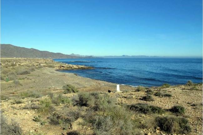 Las mejores playas de Murcia, imagen de la playa de Abejorros