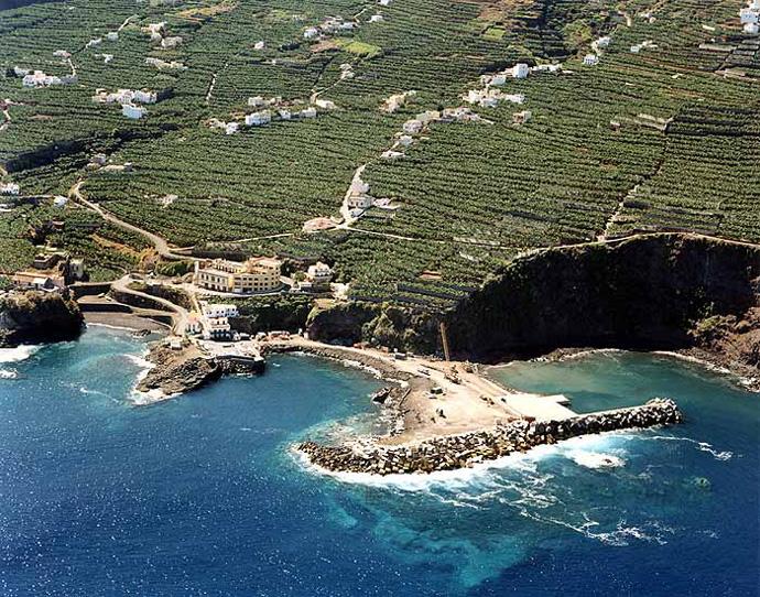 Las mejores playas de La Palma, imagen de la playa de Puerto Espíndola