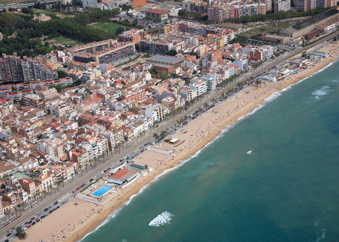 Las mejores playas de Barcelona, imagen de la playa de Platja Del Pont D''En Botifarreta'