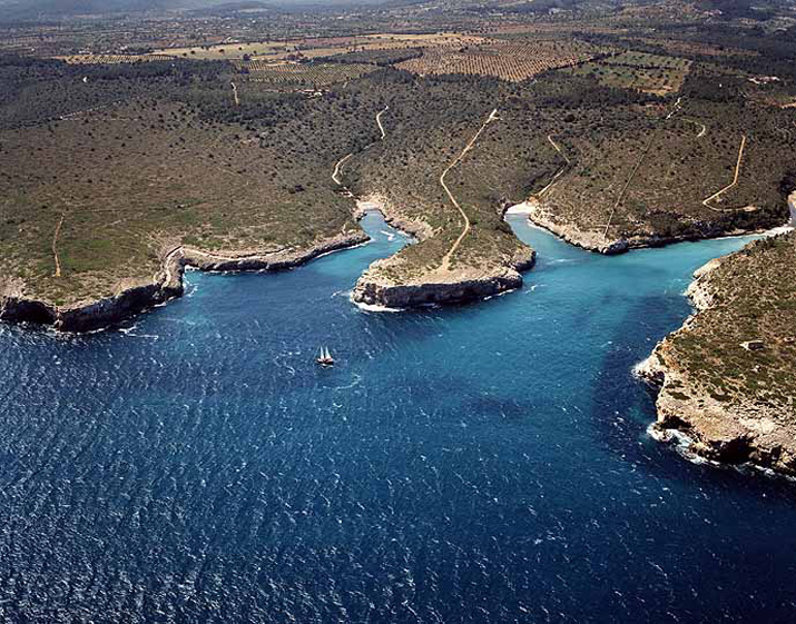 Las mejores playas de Mallorca, imagen de la playa de Cala Pilota