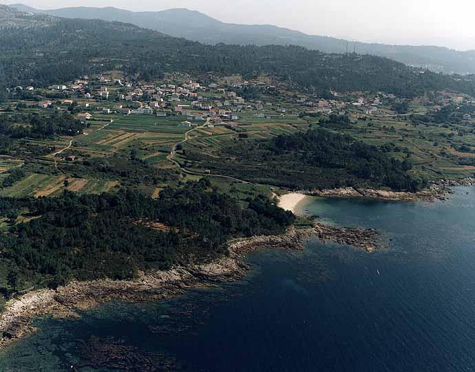 Las mejores playas de Coruña, imagen de la playa de Coido