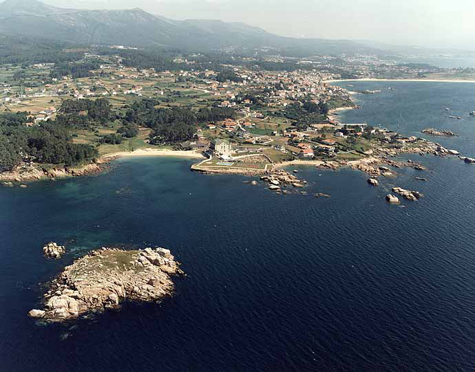 Las mejores playas de Coruña, imagen de la playa de Río Azor