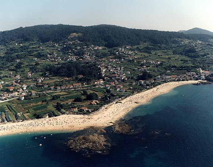 Las mejores playas de Pontevedra, imagen de la playa de Agrelo