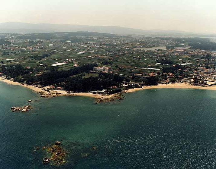 Las mejores playas de Pontevedra, imagen de la playa de Bornal