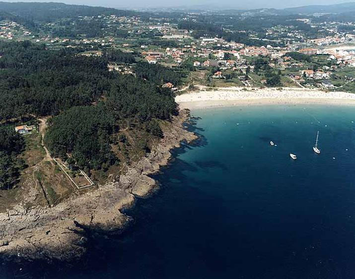 Las mejores playas de Pontevedra, imagen de la playa de Caneliñas