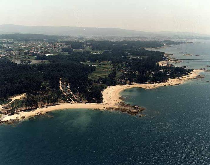 Las mejores playas de Pontevedra, imagen de la playa de Con Da Mina