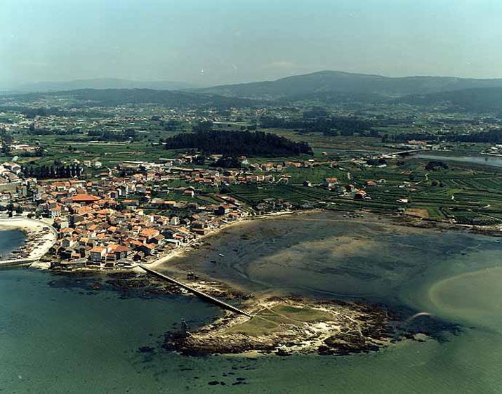 Las mejores playas de Pontevedra, imagen de la playa de Espiñeiro