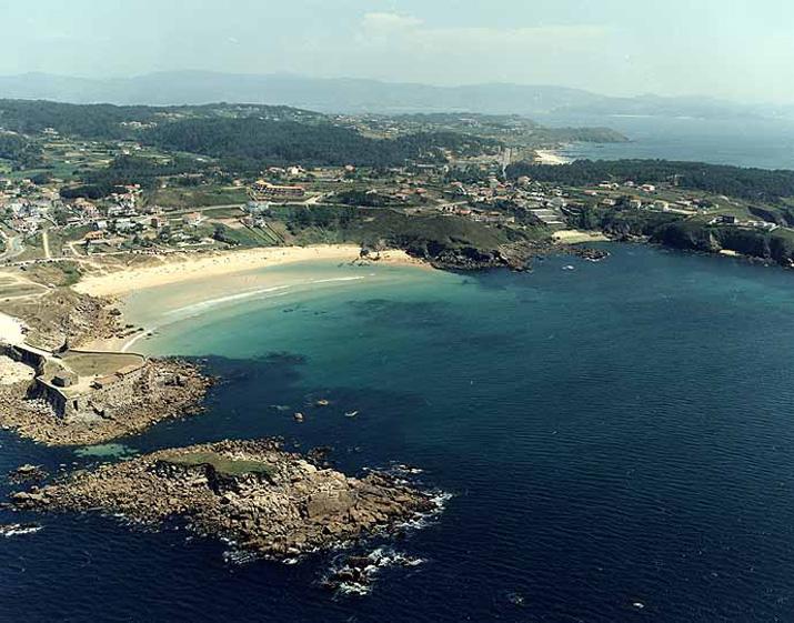 Las mejores playas de Pontevedra, imagen de la playa de Fontenla