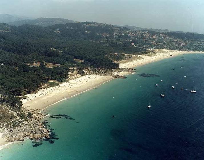 Las mejores playas de Pontevedra, imagen de la playa de Nerga