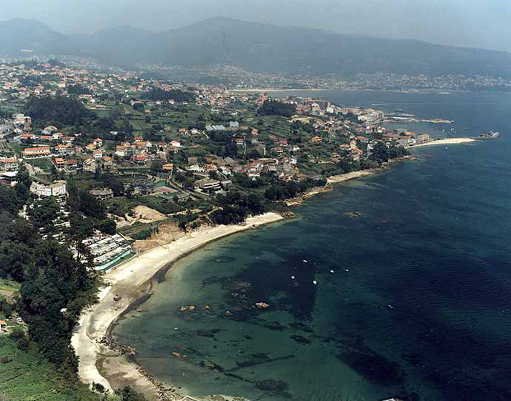 Las mejores playas de Pontevedra, imagen de la playa de O Con