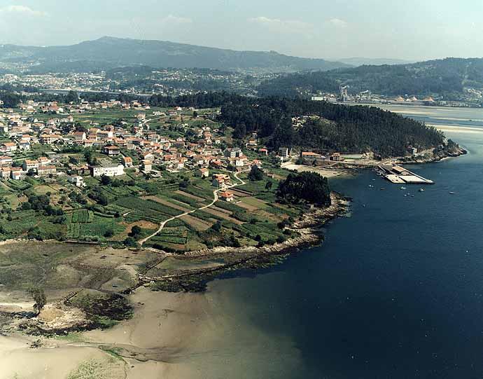Las mejores playas de Pontevedra, imagen de la playa de Ostreira