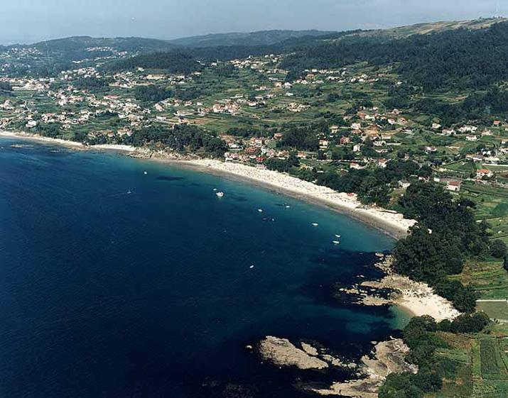 Las mejores playas de Pontevedra, imagen de la playa de O Santo Do Mar