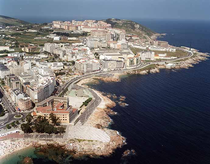 Las mejores playas de Coruña, imagen de la playa de San Roque