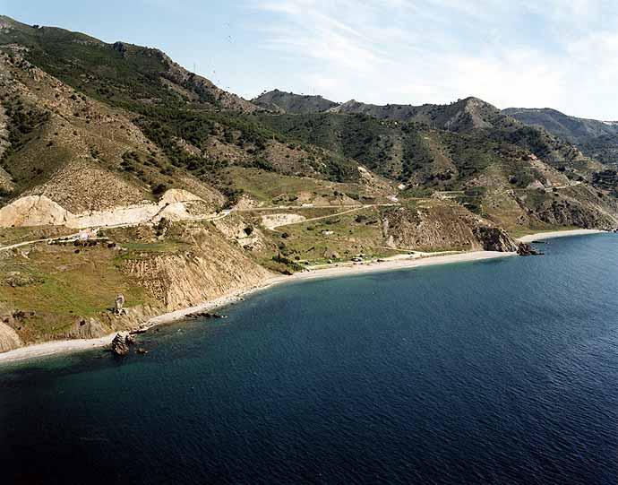 Las mejores playas de Málaga, imagen de la playa de Las Alberquillas