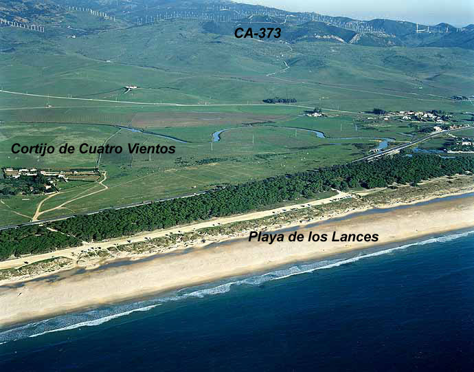 Las mejores playas de Cádiz, imagen de la playa de Los Lances Norte