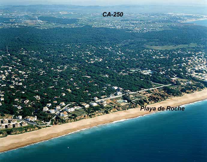 Las mejores playas de Cádiz, imagen de la playa de El Roche