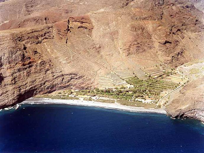Las mejores playas de La Gomera, imagen de la playa de El Cabrito