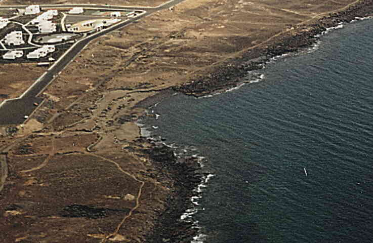 Las mejores playas de Lanzarote, imagen de la playa de La Campana